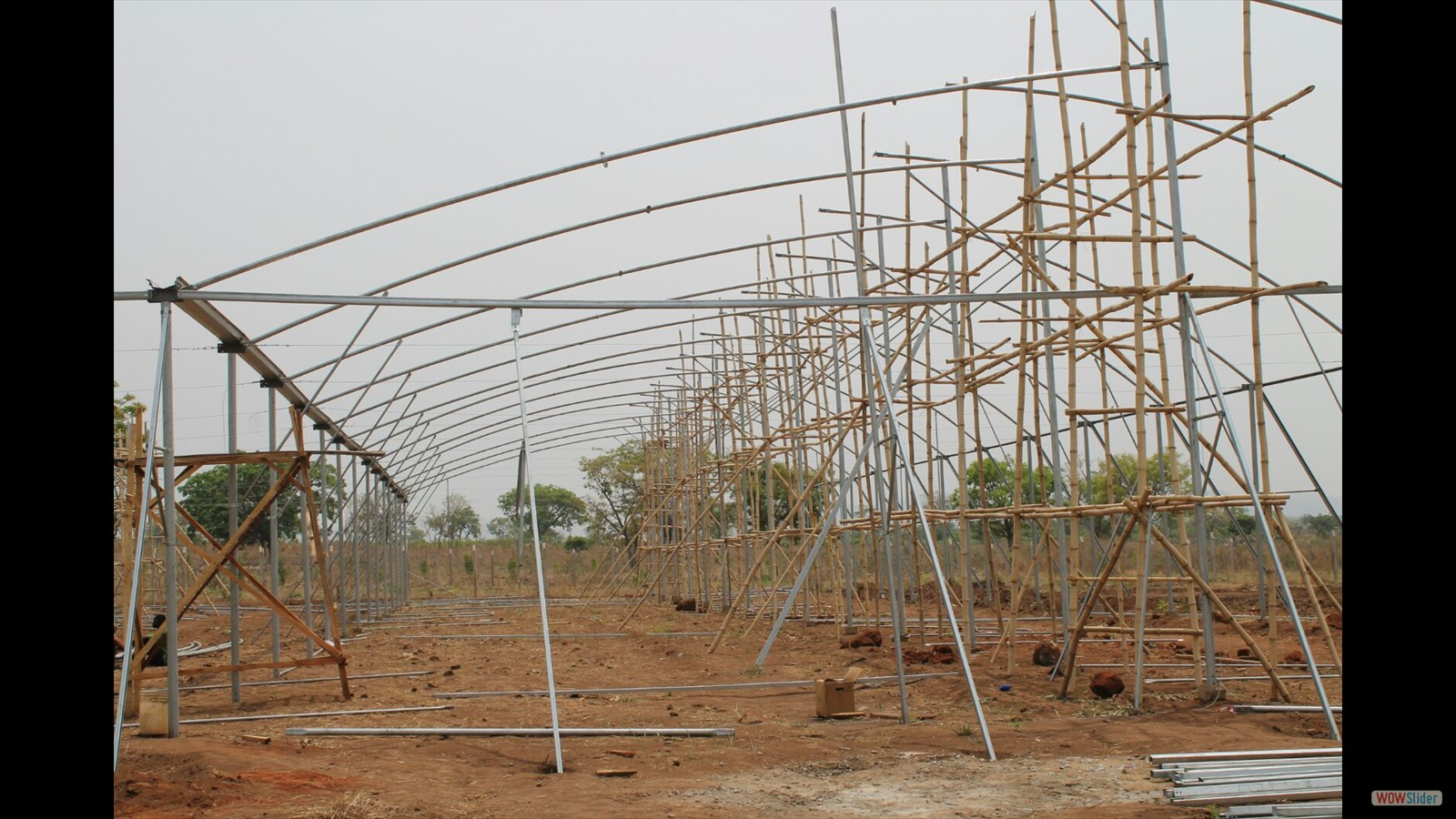 Construction work of greenhouse - beginning of March 2016