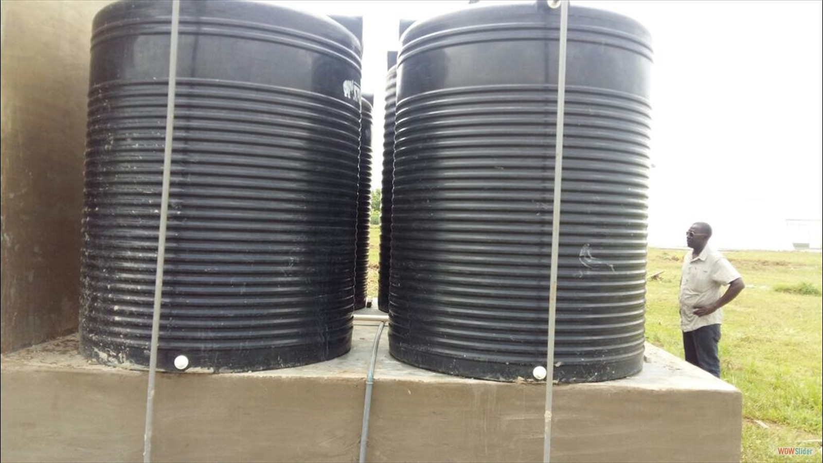 Water tanks installed - total capacity 40.000 litres - summer 2016